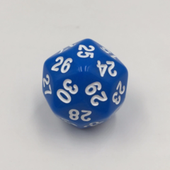 30-Sided Opaque Dice (d30) - Blue