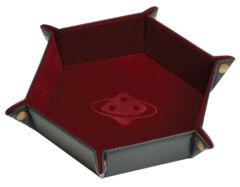 Sirius Dice: Folding Dice Tray - Hexagon Burgandy