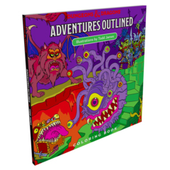 Dungeons & Dragons - Adventures Outlined - Coloring Book