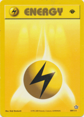 Lightning Energy - 100/102 - Common - 1st Edition (FR)