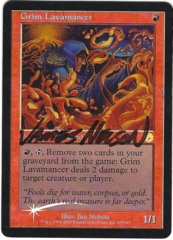 Grim Lavamancer - Foil - Signed