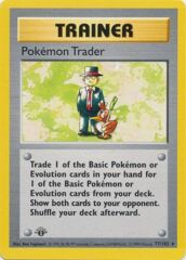 Pokemon Trader - 77/102 - Rare - 1st Edition (FR)