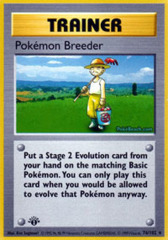 Pokemon Breeder - 76/102 - Rare - 1st Edition (FR)