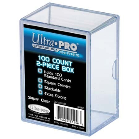2-Piece 100 Count Clear Card Storage Box