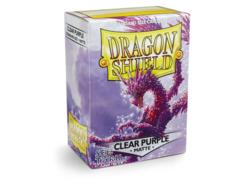 Dragon Shield 100ct Standard Sleeves - Matte Clear Purple