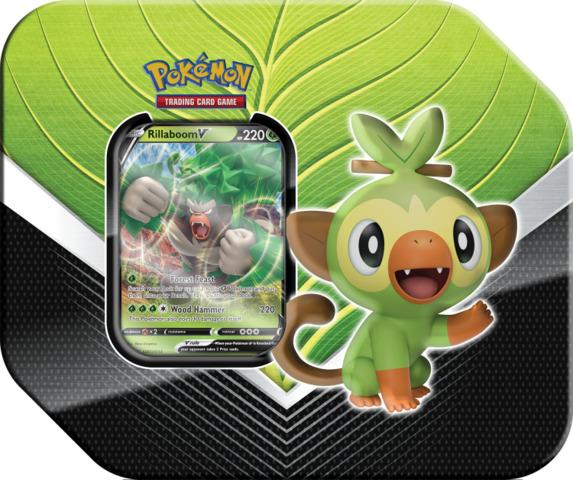 Pokemon Galar Partners Tin - Rillaboom V (Ships Feb 27)