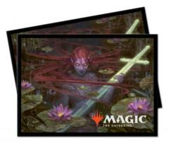 Ultra Pro MTG 100ct Throne of Eldraine Standard Sleeves - Emry, Lurker of the Loch