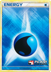 Water Energy - Promotional - 2010 Crosshatch Holo Play! Pokemon Promo