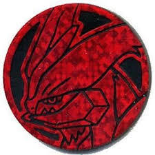 White Kyurem Plastic Coin (Red)