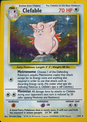 Clefable - 1/64 - Holo Rare - Unlimited Edition - Missing Set Symbol