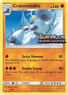 Crabominable - SM47 - Staff Prerelease Promo