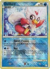 Delibird - 39/123 - Crosshatch Holo Pokemon League Snow Throw Season 2010
