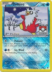 Delibird - 38/149 - 2nd Place Crosshatch Holo Pokemon League Froakie / Xerneas Season League Challenge Promo