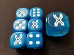 Premium Trainer's XY Collection Dice Pack - Blue (Contains 6 Small dice + 1 Large dice)