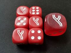 Premium Trainer's XY Collection Dice Pack - Red (Conatins 6 Small dice + 1 Large dice)