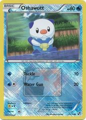 Oshawott - 27 - Promotional - Crosshatch Holo Pokemon League Oshawott Season 2011