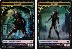 Zombie Token - Double Sided - Foil - Prerelease Promo