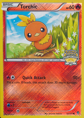 Torchic - 12/111 - Crosshatch Pokemon Championship Promo