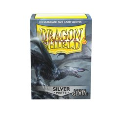 Dragon Shield 100ct Standard Sleeves - Matte Non-Glare Silver