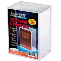 2-Piece 250 Count Clear Card Storage Box
