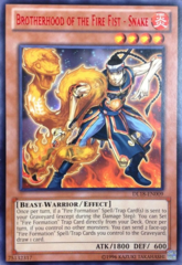 Brotherhood of the Fire Fist - Snake - Red - DL18-EN009 - Rare - Unlimited Edition