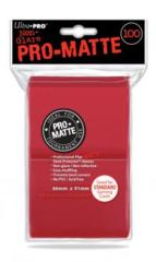 Ultra Pro PRO-Matte 100ct Standard Deck Protectors - Red