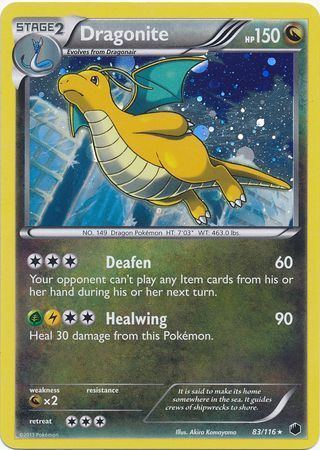 Dragonite - 83/116 - Cosmos Holo XY Blisters Exclusive