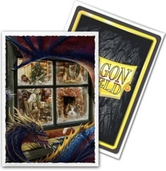 Dragon Shield 100ct Standard Sleeves - Classic Christmas Dragon Art