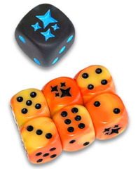 Sun & Moon Hidden Fates Dice set of 6 Plus Bonus Die (From the Elite Trainer Kit)