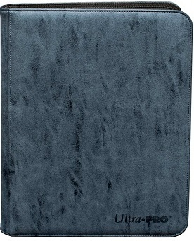 Ultra Pro 9-Pocket Suede Collection Pro-Binder - Sapphire
