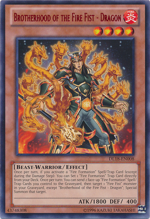 Brotherhood of the Fire Fist - Dragon - Red - DL18-EN008 - Rare - Unlimited Edition