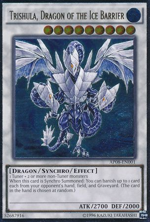 Trishula, Dragon of the Ice Barrier - AP08-EN001 - Ultimate Rare - Unlimited Edition