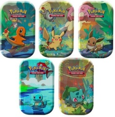 Kanto Friends Mini Tin - Set of 5