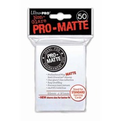 Ultra Pro PRO-Matte 50ct Standard Deck Protectors - White