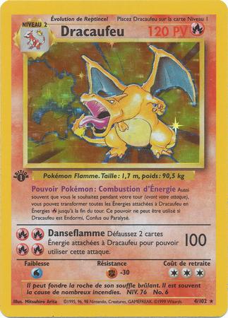 Charizard French Dracaufeu Holo Rare 1st Edition