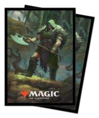 Ultra Pro MTG 100ct Throne of Eldraine Standard Sleeves - Garruk, Cursed Huntsman