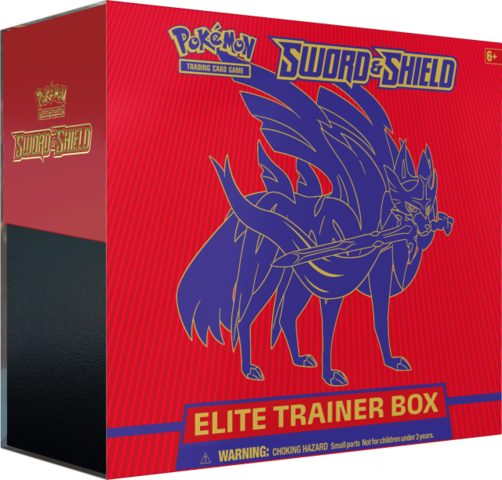 Pokemon Sword & Shield Base Set Elite Trainer Box - Zacian (Ships Feb 7)