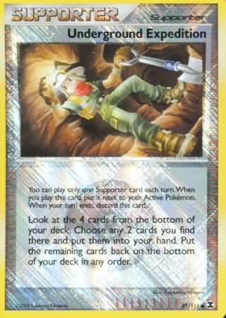 Underground Expedition - 97 - Promotional - Crosshatch Holo Pokemon League Darach Season 2010