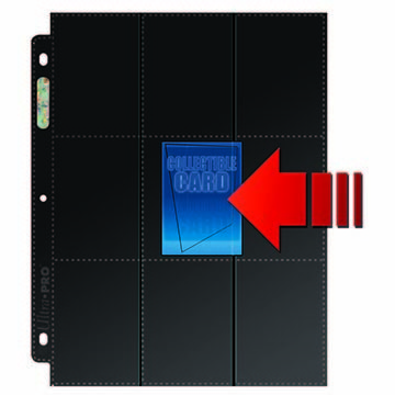 18-Pocket Side Load Pages with Black Background (50ct box)