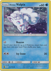 Alolan Vulpix  Alternate Art Promo