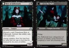 Heir of Falkenrath // Heir to the Night