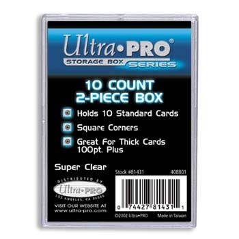 2-Piece 10 Count Clear Card Storage Box