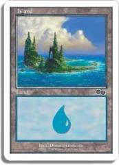Island - D [Urza's Saga, Hills on Left]