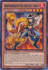 Brotherhood of the Fire Fist - Snake - Blue - DL18-EN009 - Rare - Unlimited Edition