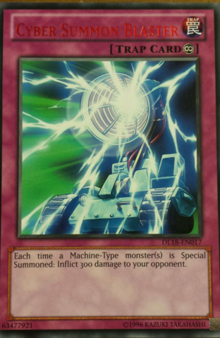 Cyber Summon Blaster - Red - DL18-EN017 - Rare - Unlimited Edition