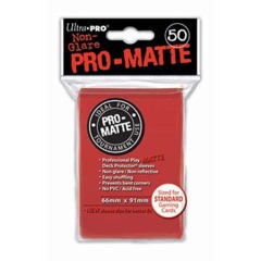 Ultra Pro PRO-Matte 50ct Standard Deck Protectors - Red