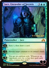 Jace, Unraveler of Secrets - Shadows over Innistrad Prerelease Promo