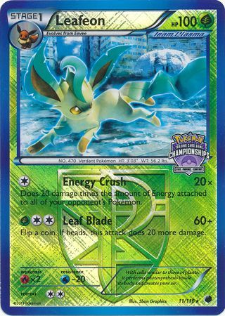 Leafeon - 11/116 - Promotional - Crosshatch Holo North American State/Province/Territory Champions Staff 2013 Promo