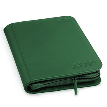 Ultimate Guard 4-Pocket Zipfolio XenoSkin -  Green