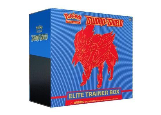 Pokemon Sword & Shield Base Set Elite Trainer Box - Zamazenta (Ships Feb 7)
